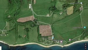 Position of Ringstead aerials satellite view in 2018