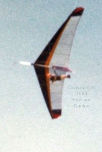 Bill Pain flying the Pelican in 1980