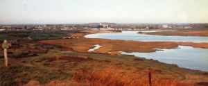 Christchurch from Hengistbury Head in 1984 or '85
