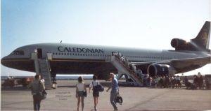 Lockheed Tristar in Lanzarote, February 1989