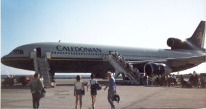 Lockheed Tristar in Lanzarote, February 1989