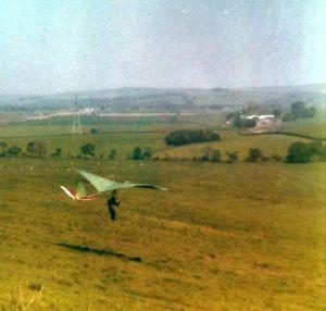 Miles Wings Gulp flight test in 1975