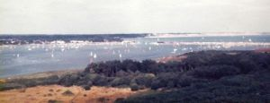 Mudeford and Highcliffe from Hengistbury Head in 1983 or '84