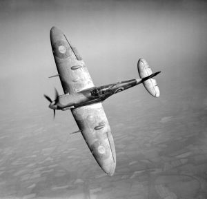 Spitfire Vb in flight