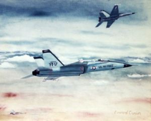 Northrop YF-17s painting about 1977