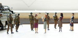 Italeri 1/35 scale DUKW with Tamiya British soldiers and Master Box WW2 women