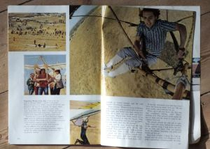 Hang gliding in National Geographic, February 1972