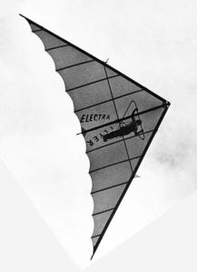 Art based on a photo of the Electra Flyer Cirrus with battens added
