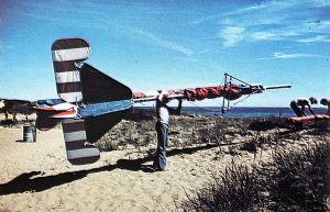 Art based on a photo of Mike Markowski carrying the Eagle III