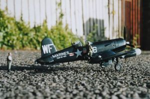 1/72 scale Vought Corsair by Everard Cunion in about 2001