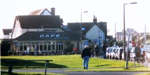Cafe at Barton-on-Sea in about 2000