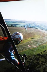 Everard at Bell Hill on the same day he crashed Simon's K5 in September 1997