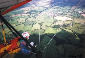Everard TRX cross-country hang glider flight from Bell Hill in August 1998