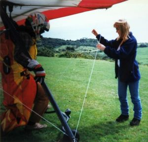 Hang check at Ringstead in 1997