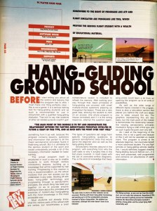 Hang Gliding Ground School reviewed in PC Player, issue 4, March 1994