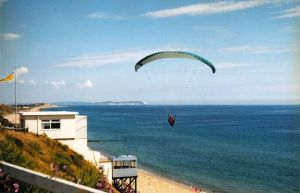 Paraglider soon after launching at Bournemouth in June 1997