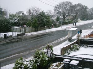 Snow in Christchurch, Dorset, England January 2013
