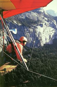 Art based on a photo by Bob Ormiston flying alongside Seth B. Anderson at Yosemite National Park, California