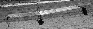 Art based on a photo by Joe Alendifer of an Icarus V in flight