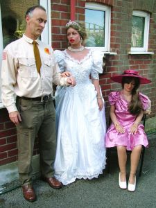 Caroline Realdoll in wedding dress in 2006