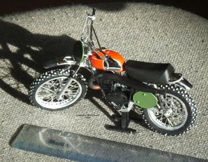 Non-kit 1/12 scale Husqvarna motocross bike of the early 1970s