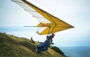 Gary D launches at Kimmeridge on the Dorset coast