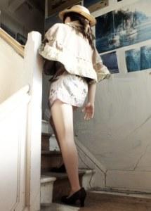 Meotzi life size doll climbing stairs