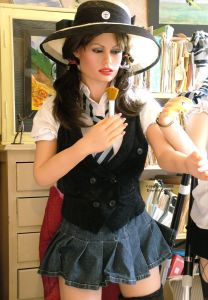 Realdoll in St. Trinian's outfit