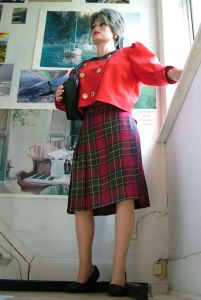 Realdoll in red outfit