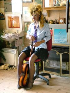 Lina Realdoll with a guitar