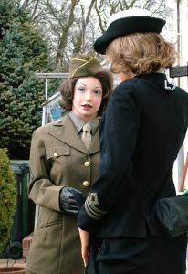 Louise Realdoll preparing for D-Day at Alektra;s castle in 2013