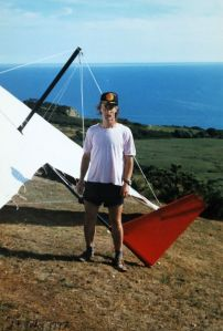 At Ringstead in 1997 with the fin from Everard's experimental wing retrofitted to the TRX)