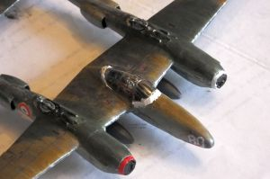 RS Models 1/72nd scale Lockheed F5A Lightning under construction