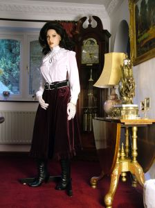 Virginia Realdoll in Victorian outfit in 2013