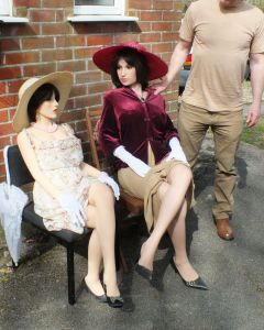 Zoe and Lucy life size dolls