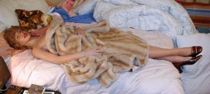 Caroline Realdoll fur coat, in 2005