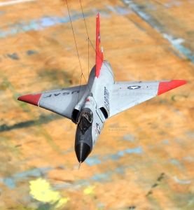 Meng 1/72nd scale QF-106 hanging by a thread