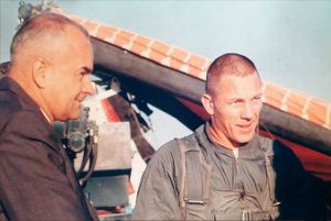 FM Rogallo and Jack Swigert of Apollo 13 (NASA photo)