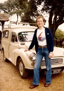 Roly Lewis-Evans before setting out for the USA in October 1979