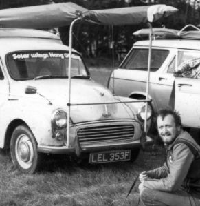 Roly the sailmaker during his Solar Wings days