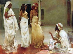 Slave market by Vincente Navarro y Romero