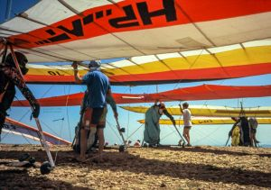 Dutch hang gliding competition in Spain in 1993