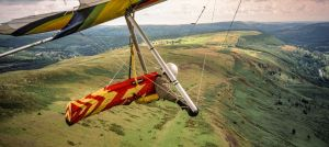 Hang gliding at Merthyr Tydfil, south Wales, 2000