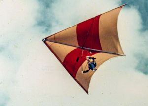 Hang glider overhead in 1975
