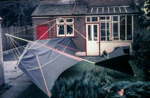 Everard's monoplane hang glider after redesign in 1976