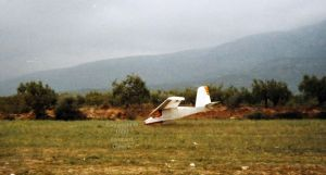 ULF-1 touching down at Ager, northern Spain, in September 1989