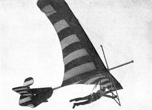 Art based on a photo of Mike Markowski flying the Eagle III