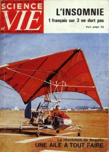 Photo by Michel Moussier of the Ryan 'flying jeep' on the cover of a French magazine for insomniacs in May 1961