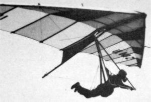 Czech Jiri Klikar flying a wing of his own design