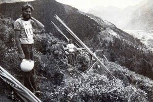 Bob Keeler of Seagull Aircraft at Telluride on July 13th, 1974, by Leroy Grannis